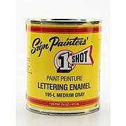 1-Shot Lettering Enamel Pint - Medium Gray 195L