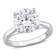 10K White Gold 4ctw Moissanite Round Solitaire Engagement Ring