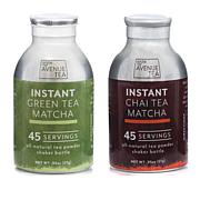 10th Avenue Tea 2pk Instant Tea Shaker Bottles - Chai/Green Tea Matcha