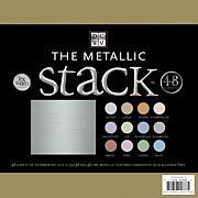 "12"" x 12"" Metallic Cardstock Stack - 48 Solid Sheets"