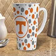 16 oz. Polka Dot Latte Mug with Team Colors - Tennessee