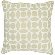 """18"""" x 18"""" Circle Design Pillow - Sage/Off-White"""