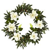 """20"""" Olive & Anemone Artificial Wreath"""