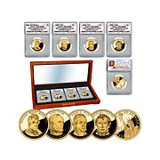 2009 PR70 ANACS FDOI LE 3927 Presidential Dollar Set
