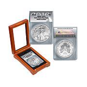 2016 SP70 ANACS Satin-Finish Silver Eagle Dollar Coin