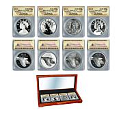 2017 ANACS 70 American Liberty 225th Anniversary Silver Medal Set of 4