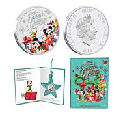 2018 Disney Season's Greetings Limited Edition Silver Coin