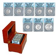 2018 PR70 ANACS DCAM FDOI LE of 149 S-Mint Silver Proof 8-Coin Set