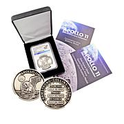 2019 MS70 NGC Apollo 11 50th Anniversary Robbins Medal Restrike
