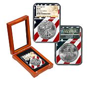 "2019 MS70 NGC New Year's Edition ""Flag Label"" Silver Eagle Dollar Coin"