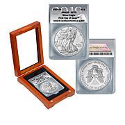 2019 SP70 ANACS FDOI LE 1,899 Satin-Finish Silver Eagle Dollar Coin