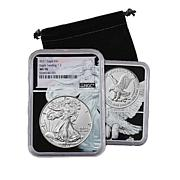 2021 MS70 NGC Type II Silver Eagle Coin with Dual-Core Holder