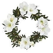 """21"""" Olive with Amaryllis Artificial Wreath"""