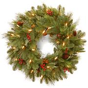 """24""""Battery-Operated Noelle Wreath w/LEDs"""