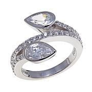 2.52ctw Absolute™ Pear and Pavé Bypass Bezel Ring