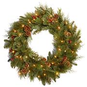 """30"""" Battery-Operated Noble Mixed Wreath"""