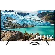 Samsung LED Flat 4K UHD Television and 6 Foot HDMI Cable