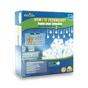 60 LED Pure White Icicle Lights - Snowflake
