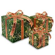"Winter Lane 6""/8""/10"" Assorted Sisal Gift Boxes"