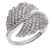 Absolute™ 1.03ctw Cubic Zirconia Pavé Bypass Wing Ring