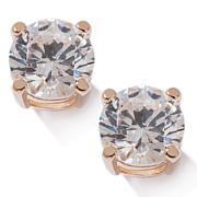 Absolute™  Cubic Zirconia Round 4-Prong Gold-Plated Stud Earrings
