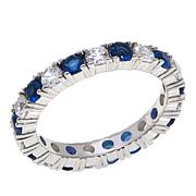 Absolute™ CZ and Simulated Sapphire Eternity Ring