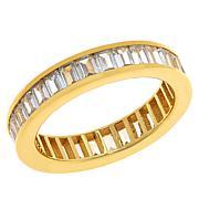Absolute™ Sterling SilverCubic Zirconia Emerald-Cut Eternity Ring