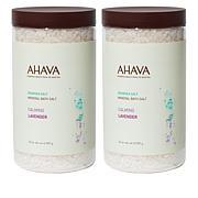 AHAVA Mineral Bath Salt Duo - Calming Lavender