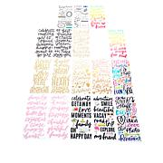 American Crafts Phrase Thickers Foam Stickers Bundle