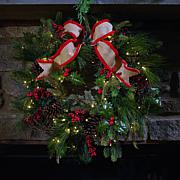 "American Tree & Wreath 24"" Pinecone Berry Wreath"