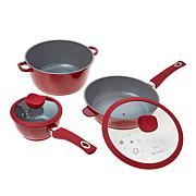 Anne Burrell 5-piece Nonstick Cast Aluminum Cookware Set