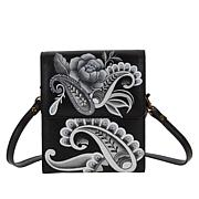 Anuschka Hand-Painted Leather French Wallet Crossbody