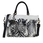 Anuschka Hand Painted Leather Multi-Compartment Tote