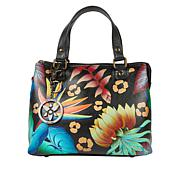 Anuschka Hand-Painted Leather Satchel with Accessories