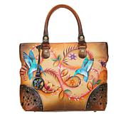Anuschka Hand-Painted Leather Studded Shopper Tote