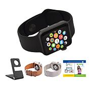 Apple Series 3 42mm Water-Resistant Sports Watch w/GPS& Extra Bands