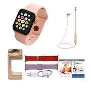 Apple Watch Series 4 44mm w/Cellular, 2 Extra Bands & Wireless Earbuds