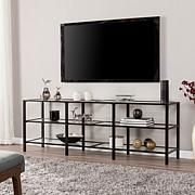 Ari Metal and Glass TV Stand - Black