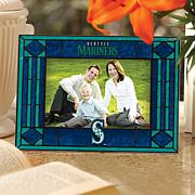 Art Glass Horizontal Photo Frame - Seattle Mariners
