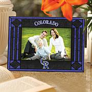 Art Glass Horizontal Picture Frame - Colorado Rockies