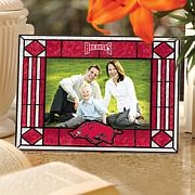 Art Glass Horizontal Picture Frame - Univ of Arkansas