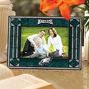 Art Glass Picture Frame - Philadelphia Eagles