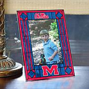 Art Glass Team Photo Frame - Mississippi - College