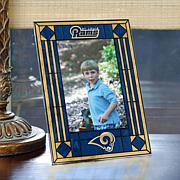 Art Glass Team Photo Frame - St. Louis Rams - NFL