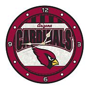 Art Glass Wall Clock - Arizona Cardinals