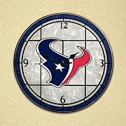 Art Glass Wall Clock - Houston Texans