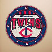 Art Glass Wall Clock - Minnesota Twins