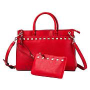 """""""As Is"""" Carlos by Carlos Santana Studded Satchel with Wristlet Pouch"""
