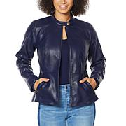 """""""As Is"""" Colleen Lopez Peplum Faux Leather Jacket"""