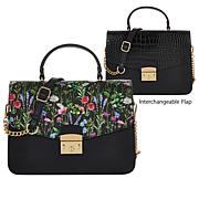 """""""As Is"""" IMAN Global Chic Convertible Flap Satchel"""